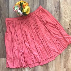 Halogen Peach Pleated Skirt | sz L
